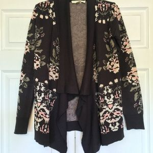 Urban Outfitters l Open Front Floral Cardigan